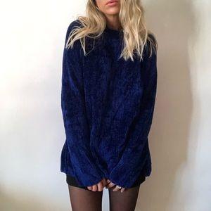 {Vintage} cozy blue sweater